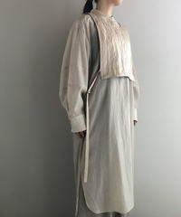 muller of yoshiokubo / long shirt with reen satin top