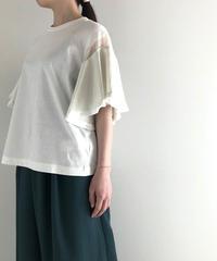 muller of yoshiokubo / Fringe flare sleeve T