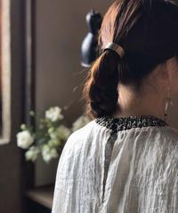muller of yoshiokubo / knit rib organdy top