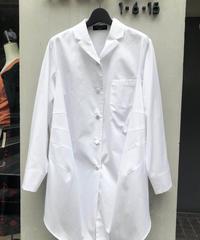 Cotton broad blouse/white