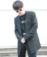 COLLAR-LESS HOMME JACKET【BLK】