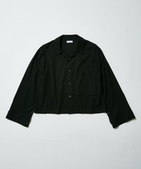 70's  CUSTOM OPEN COLLAR SHIRT  【BLACK】