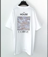 【  2019.5.25.21:00-販売開始  】HOUSE COMMUSE TEE【WHT】