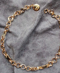 L W HOOP NECKLACE【GLD】