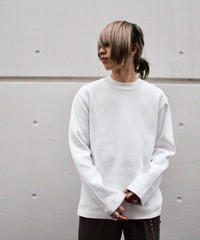 MINIMAL CREW NECK KNIT【WHT】