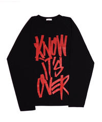"""I KNOW IT'S OVER"" LONG SLEEVE  TEE【BLK】"