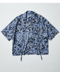 LEAF INTERSECT OPEN COLLAR SHIRT【MULTI】