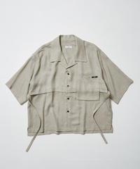 LEAF INTERSECT OPEN COLLAR SHIRT【BGE】