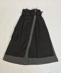 WRAP-AROUND LAYERED SKIRT【CHECK】