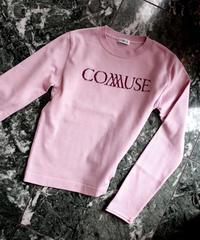 """L. """"COMMUSE """" JACQUARD LOGO KNIT 【PNK】"""
