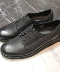 GOAT UPPER PLAIN TOE SHOES【BLK】