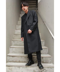 BARONIARU  HIGH-SLIT CHESTER COAT【BLK】
