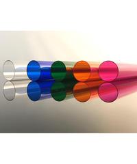 ポリカーボネイトカラーパイプ5色セット(透明・青・ピンク・オレンジ・緑:外径34mm×内径33mmx1M)