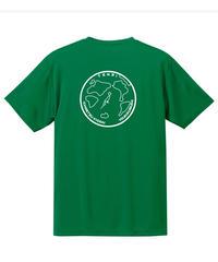 地球デザイン  Tシャツ グリーン