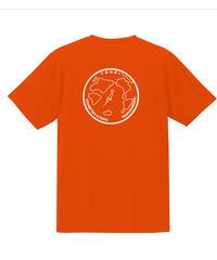 地球デザイン  Tシャツ オレンジ