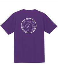 地球デザイン  Tシャツ パープル