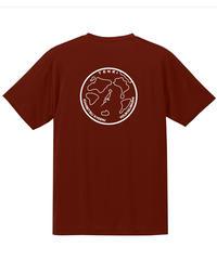 地球デザイン  Tシャツ バーガンディ
