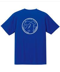 地球デザイン  Tシャツ コバルトブルー