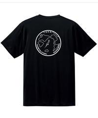 地球デザイン  Tシャツ ブラック