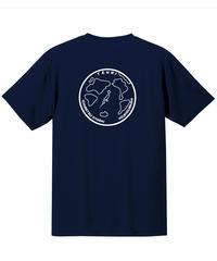 地球デザイン  Tシャツ ネイビー(ホワイト)
