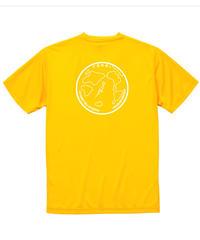 地球デザイン  Tシャツ カナリアイエロー(ホワイト)