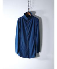 Thee OLD CIRCUS / 8381 / メランジストレッチ タートルカーディガン / M.BLUE