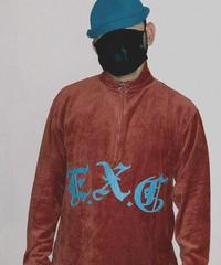 """""""CORD"""" (ハーフジップコーデュロイ/オレンジ) #EXC-LT05"""