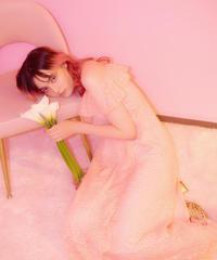 chiffon frill dress PINK