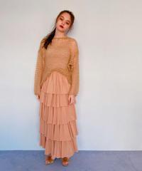 chiffon tiered skirt BEIGE