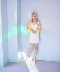 cotton lace corcet dress WHITE
