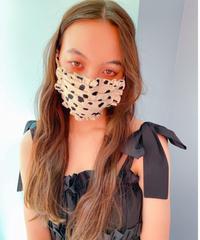 dalmatian frill face mask IVORY