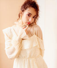 sheer blouse BEIGE