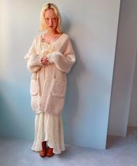 handmade knit coat IVORY