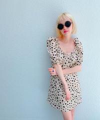 dalmatian dress IVORY