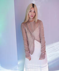 bias button knit BEIGE