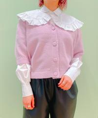 puff sleeve knit cardigan LILAC