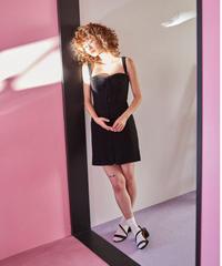cotton lace corset dress BLACK