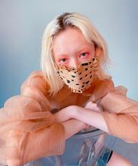 dalmatian frill face mask BEIGE