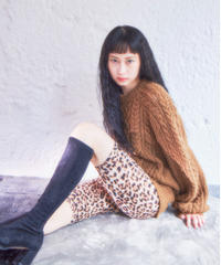 handmade alan knit BROWN