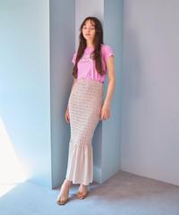 shirring skirt  PURPLE