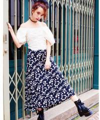 print skirt BLACK DAISY