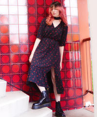 scarf set dress BLACK CHERRY