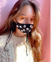 daisy face mask BLACK