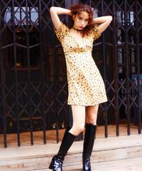 leopard dress BEIGE