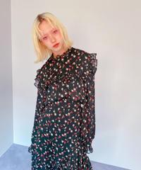 flower blouse BLACK