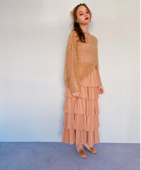 chiffon tiered skirt BEIGE