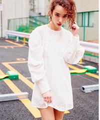 cotton lace 2way dress