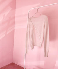 bias button knit IVORY