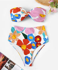 TB-134 Big Flower  High Waist Bandeau