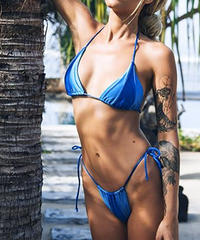 TB-070 Blue Color Block Bikini